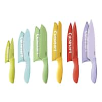 Cuisinart 12pc. Ceramic Coated Color Knife Set with Blade Guards