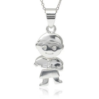 Journee Collection Sterling Silver Boy Pendant