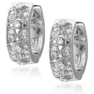 Journee Collection Sterling Silver Cubic Zirconia Earrings