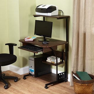 Simple Living Actuate Espresso Mobile Computer Desk
