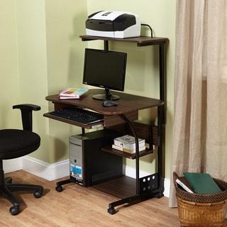Simple Living Actuate Espresso Mobile Computer Desk