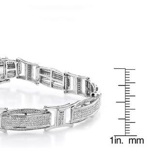 Luxurman 10k Gold Men's 2 2/5ct Diamond Pave Bracelet (H-I, SI1-SI2)
