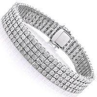 Luxurman Sterling Silver 5 8ct Tdw Illusion Set Diamond 4 Row Tennis Bracelet