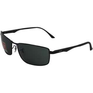Ray Ban Men RB3498 002/71 Metal Black Rectangular 61mm Sunglasses
