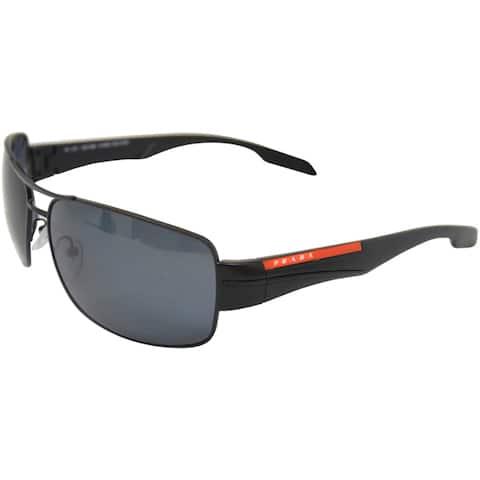 PS 53NS 1BO5Z1 Demi Shiny Black Polarized Gray by Prada for Men - 65-16-130 mm Sunglasses
