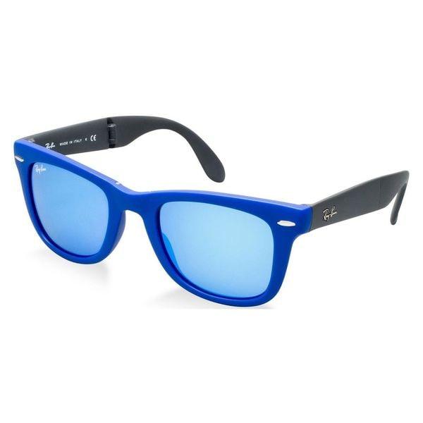 db65a2542ee26 Shop Ray-Ban Men s 4105 Folding Wayfarer 50-22 Sunglasses - Free ...