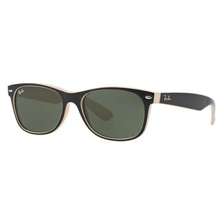 Ray-Ban Men's Black on Beige Wayfarer Sunglasses (55 mm)