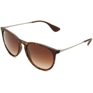 ray ban outlet zone  ray ban erika rb 4171 unisex tortoise/gunmetal frame brown gradient lens sunglasses