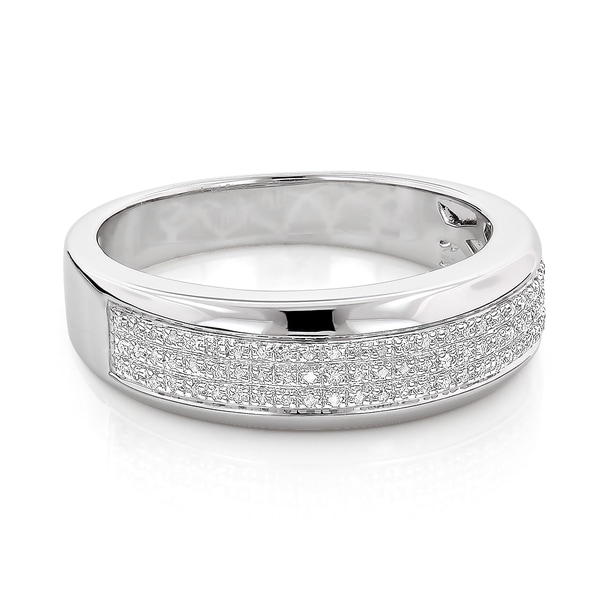 wedding ring pics shop sterling silver 1 5ct tdw men s pave band 9972