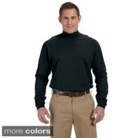 Men's Sueded Cotton Jersey Mock Turtleneck