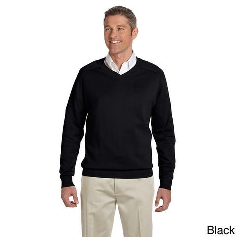 Men's Cotton Long-sleeve V-neck Sweater