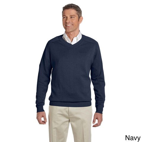 Men's Cotton Long-sleeve V-neck Sweater