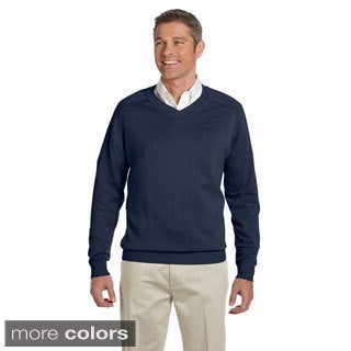Men's Cotton Long-sleeve V-neck Sweater - Free Shipping Today ...