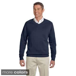 Men's Cotton Long-sleeve V-neck Sweater|https://ak1.ostkcdn.com/images/products/9007903/Mens-Cotton-Long-sleeve-V-neck-Sweater-P16210879.jpg?impolicy=medium