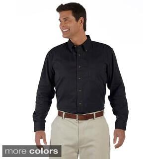 Men's Titan Long-sleeve Twill Button-down Shirt