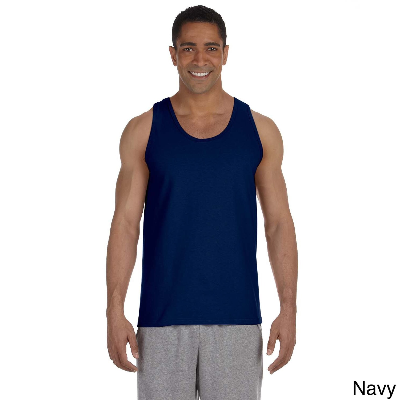 Gildan Mens Ultra Cotton Tank Top Navy Size XXL