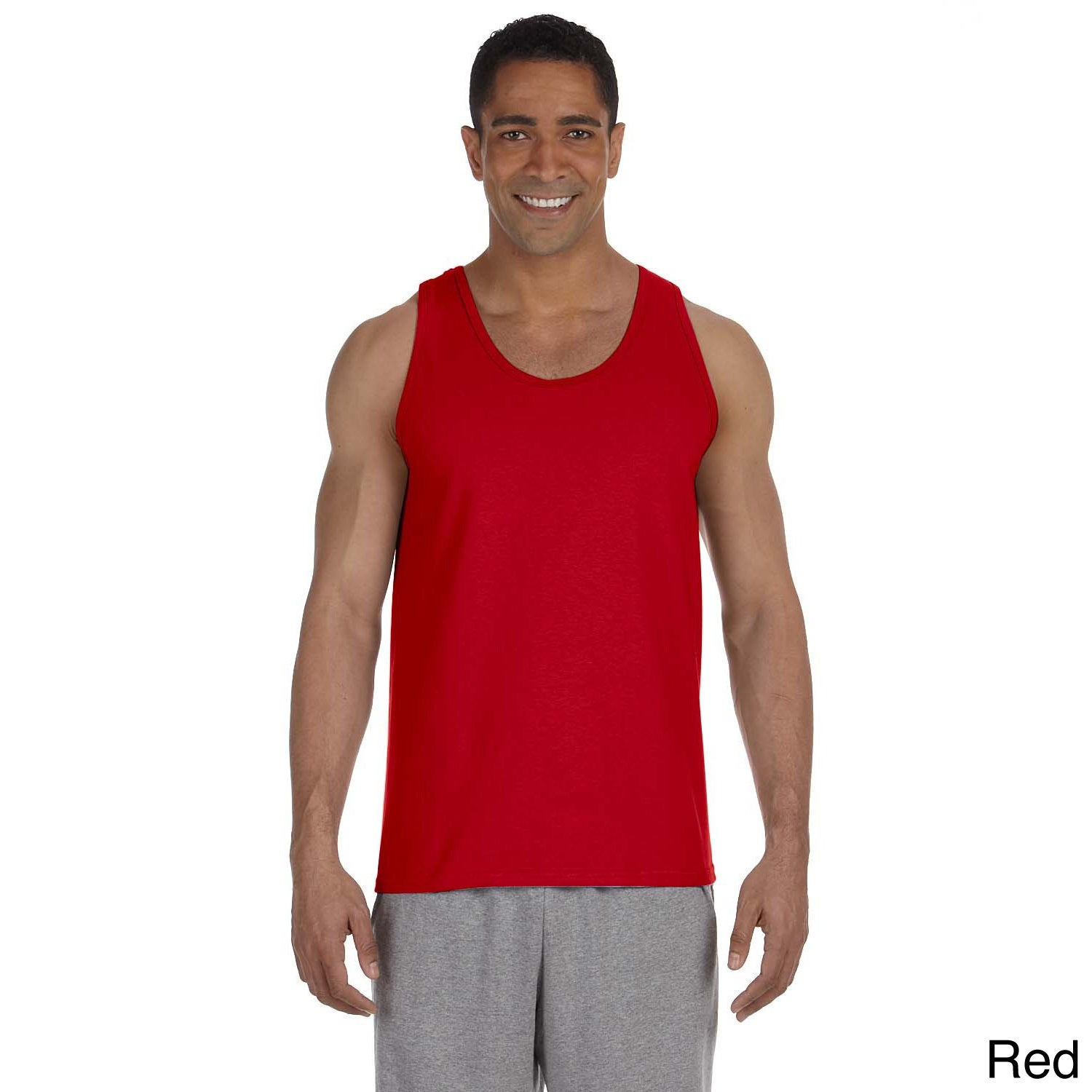 Gildan Mens Ultra Cotton Tank Top Red Size XXL