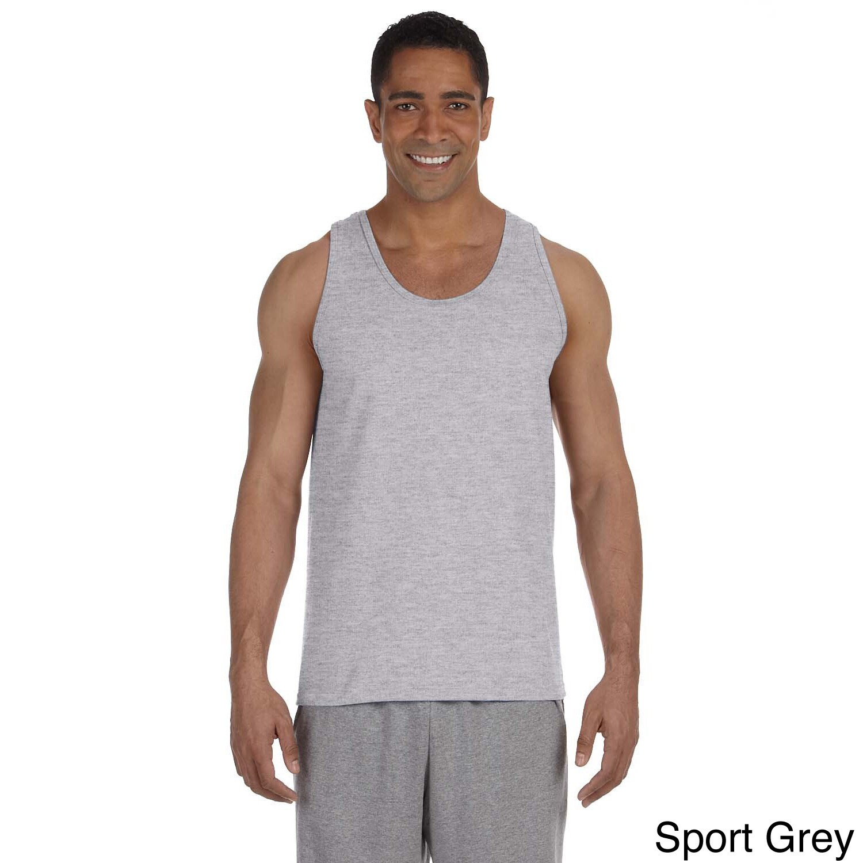 Gildan Mens Ultra Cotton Tank Top Grey Size XXL