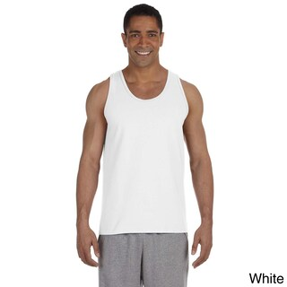 Men's Ultra Cotton Tank Top (Option: M,WHITE)