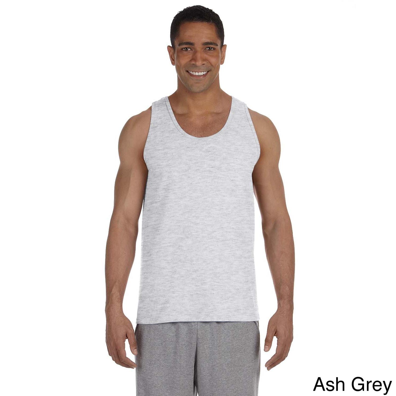 Gildan Mens Ultra Cotton Tank Top Red Size S