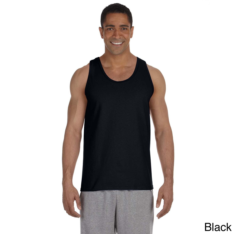 Gildan Mens Ultra Cotton Tank Top Black Size XXL