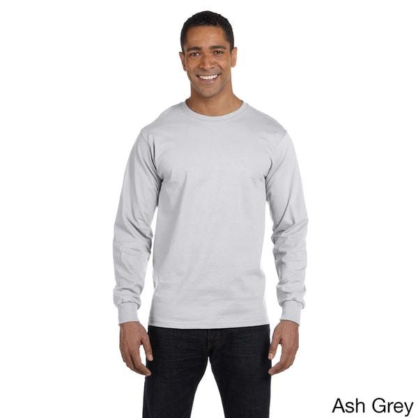 Shop Gildan Men s Dry Blend Fabric Long Sleeve T-shirt - On Sale ... f4ec4763cc5