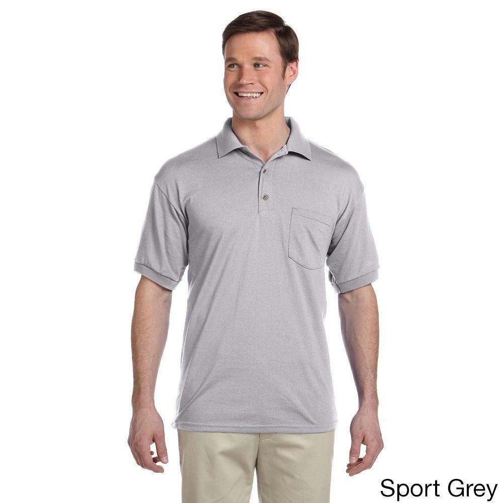 Gildan Men's Dry Blend Jersey Polo Shirt (3XL,Sport Grey)