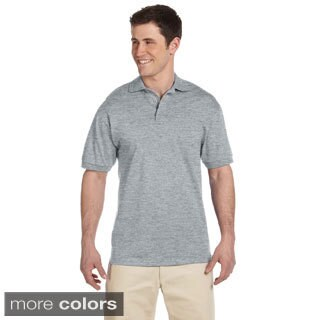 Men's Heavyweight Cotton Jersey Polo Shirt (Option: Black)