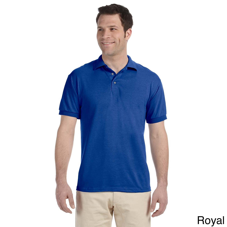 Jerzees Mens Heavyweight Blend Jersey Polo Shirt Blue Size XXL