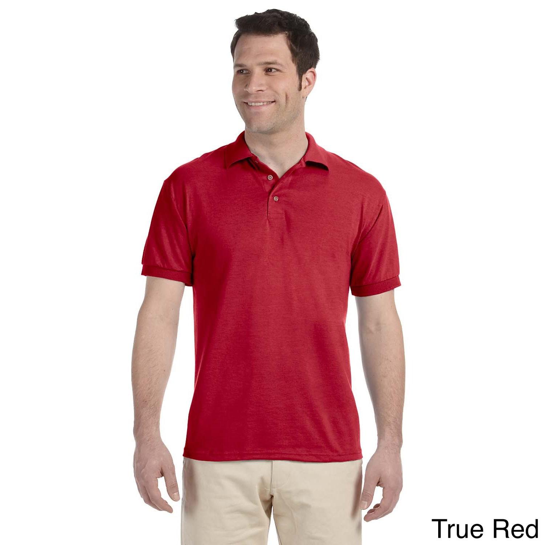 Jerzees Mens Heavyweight Blend Jersey Polo Shirt Red Size XXL