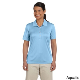 Women's Solid Performance Interlock Polo Shirt