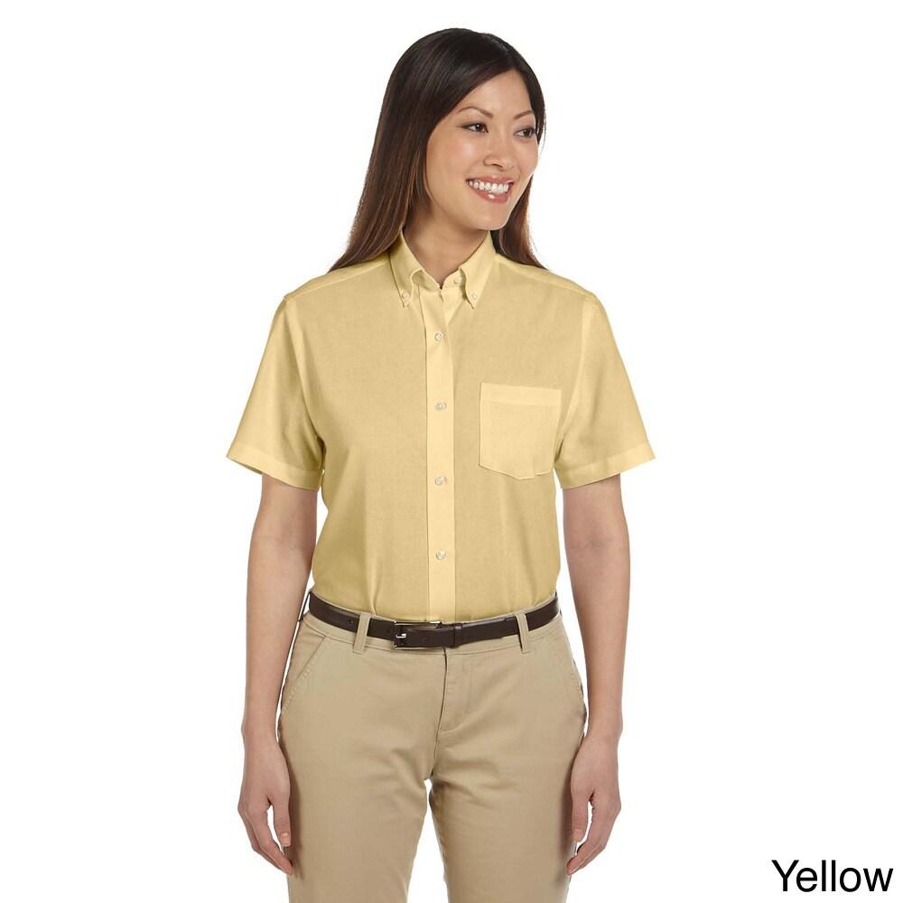 Van Heusen Women's Short Sleeve Wrinkle-resistant Oxford ...