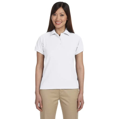 Harriton Women's Blend-Tek Short Sleeve Polo Shirt