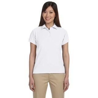 Harriton Women's Blend-Tek Short Sleeve Polo Shirt (Option: White)