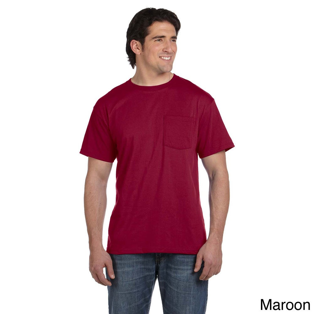 Fruit of the Loom 5.6-ounce 50/50 Best Pocket T-shirt (S,...