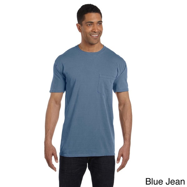 6.1-ounce Garment-dyed Pocket T-shirt