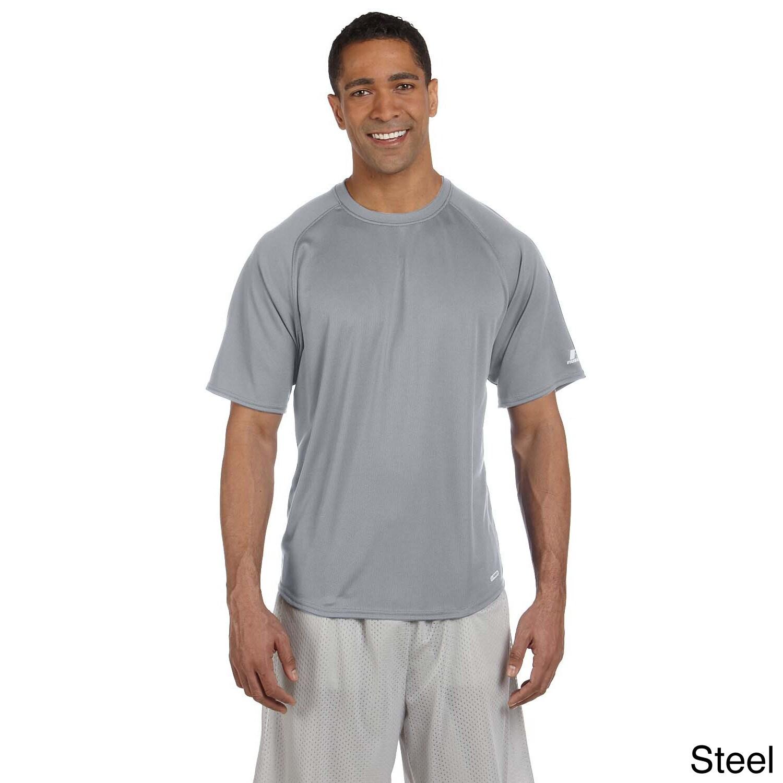 Russell Men's Dri-Power Raglan T-Shirt (S,Steel), Grey (p...