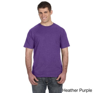 Men's Ringspun Solid Color Short Sleeve Cotton T-shirt