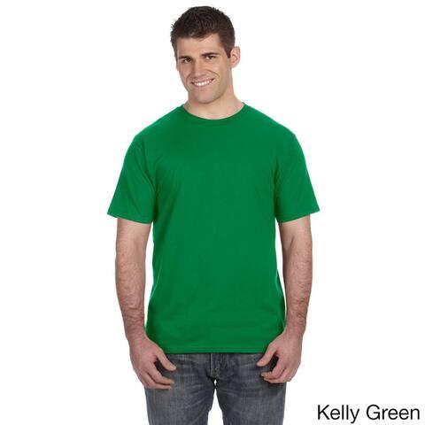 Men's Ringspun Solid Color Short Sleeve Cotton T-shirt