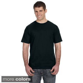 Men's Ringspun Solid Color Short Sleeve Cotton T-shirt (5 options available)