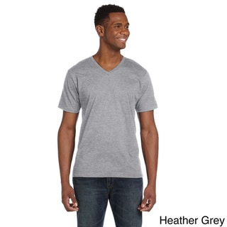 Link to Men's Ringspun V-neck Short-sleeve T-shirt Similar Items in Athletic Clothing