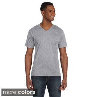 Men's Ringspun V-neck Short-sleeve T-shirt