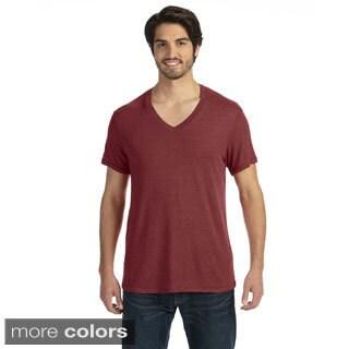 Men's Feeder Stripe Short-sleeve V-neck