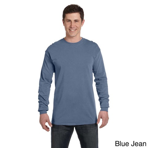 Men's Ringspun Garment-dyed Long-sleeve T-shirt
