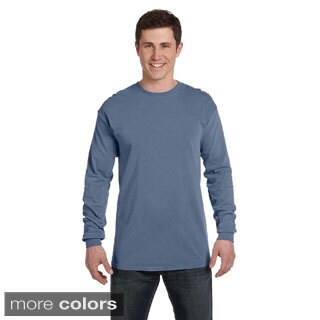 Men's Ringspun Garment-dyed Long-sleeve T-shirt (5 options available)