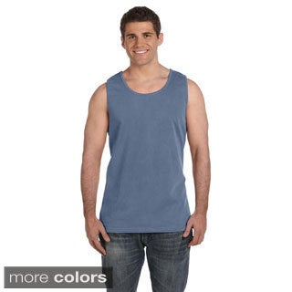 Men's Ringspun Garment-dyed Tank Top (More options available)