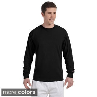 Champion Men's Long-sleeve Tagless T-shirt