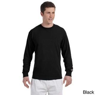 Champion Men's Long-sleeve Tagless T-shirt