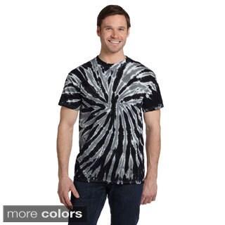 Men's Twist Tie-dyed Short-sleeve Cotton T-shirt