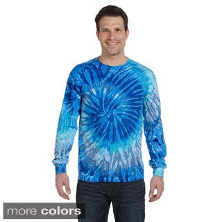 Tie-dyed Long-sleeve Cotton T-shirt (More options available)